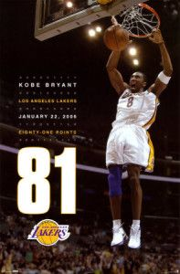 Kobe Bryant scored 81 points, the second highest number of points scored in a single game in NBA history on January Kobe Bryant 81, Kobe Bryant Family, Bryant Lakers, Kobe Lebron, Basketball Players, Nba Players, Basketball Legends, Basketball History, Basketball Quotes