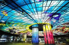 KAOHSIUNG CITY, TAIWAN Created by renowned artist Narcissus Quagliata, the Dome of Light at Kaohsiung station in Taiwan is the world's large...
