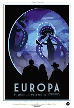 "NASA Travel - Europa 13""x19"" Poster"