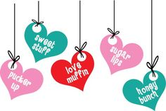 Conversation Heart Ideas for Decorations & Crafts | Conversation hearts and polka-dot patterns complete this fun ...