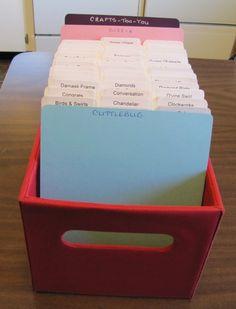 Cat's Creations: Cuttlebug Embossing Folder Storage....