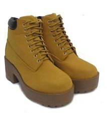 Womens Ankle Boots Ladies Chunky Cleated Platform Sole Block Heel Chelsea Shoes