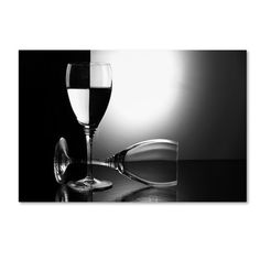 "Trademark Art 'Glasses' Photographic Print on Wrapped Canvas Size: 30"" H x 47"" W"