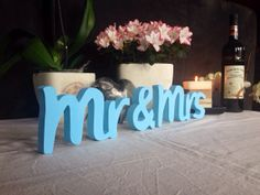 Mr  Mrs 3D sign cut from wood  wedding table decoration Wedding Signs for Wedding Photos, table decoration, Wedding Thank You Photos on Etsy, $25.00