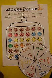 This cookie jar activity encourages learners to understand and apply basic concepts of probability by spinning the spinner and coloring the cookie the corresponding color. Preschool Math, Kindergarten Classroom, Teaching Math, Preschool Winter, Teaching Ideas, Christmas Math, Kindergarten Christmas, Christmas Ideas, Christmas Projects