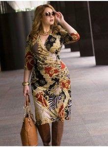 Cute Curvy Girl Fashion Outfits and Ideas 3 : Wrap Dress Evening Dresses Plus Size, Plus Size Dresses, Plus Size Outfits, Petite Outfits, Petite Dresses, Curvy Girl Fashion, Plus Size Fashion, Modelos Plus Size, Looks Plus Size