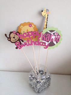 Kings Store 5pc JUNGLE ANIMALS BALLOONS birthday party decorations lion tiger monkey zebra The giraffe A King/'s Store