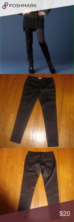 """NWT COVET Black Sheen Shiny Leggings Pants Size:4. Waist: Approximately 28 inches. Inseam: Approximately 28 inches. Length: Approximately 36 inches. Rise: Approximately 9 inches. Leg opening: Approximately 11 inches. Pants have a """"sheen"""" finish. Zipper with button and hook closure. 2 side pockets and rear welt pockets. NO belt loops. Unlined. 100% Polyester. Covet Pants Skinny"""