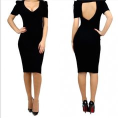 Black little number Looking for a sexy fitted black cocktail dress? I think you found it   it fits perfectly on the body. Dresses Midi