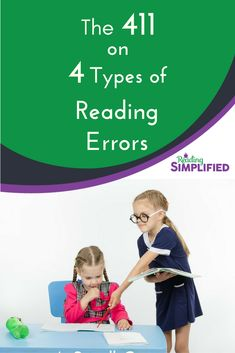 Deep dive into 4 Classic Types of Word-Level Errors AND how to solve them. Receive a bonus Cheatsheet about the 4 types and watch footage of a 1st grader reading from Frog and Toad. #reading #decoding #feedback #1stgrade Reading Resources, Reading Strategies, Reading Activities, Reading Comprehension, Reading Tutoring, Teaching Reading, Learning, Reading Incentives, Types Of Reading