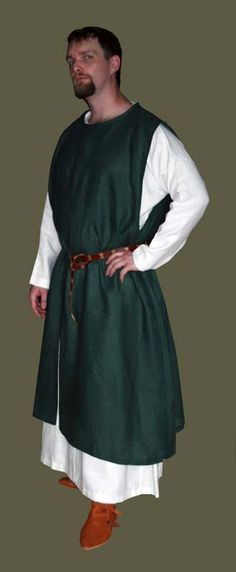 12- 14th Century Linen Men's Sleeveless Surcoat