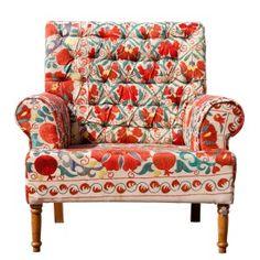 Vintage Suzani Statement Chair (The Natalya)