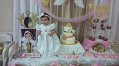 Aaliyah's Baptism First Birthday | CatchMyParty.com