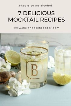 There is nothing better than a yummy mocktail. Whether you are trying to drink less, pregnant, or just looking for drinks to enjoy anytime of the day, there is a recipe for you here! I started looking at mocktail recipes for Dry January, but I plan to make this all year long. Cheers to drinking and feeling extra healthy!  | Drinks | Recipes | Lifestyle | Entertaining | Mocktails |