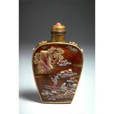 Snuff bottle - from Asian Art Museum Online Collection Bottle Box, Potion Bottle, Blue Bottle, Lalique Perfume Bottle, Perfume Bottles, Japanese Bird, Asian Art Museum, Art Nouveau, Vintage Bottles