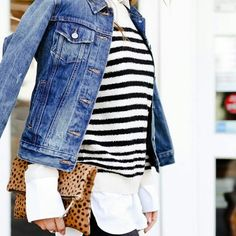 Leopard print genuine calf hair leather foldover clutch