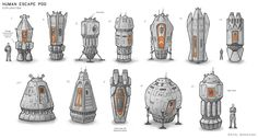 An escape pod I was required to design for the film's protagonist. The pod belonged to the human space ship. Star Wars Concept Art, Alien Concept, Spaceship Concept, Concept Ships, Sci Fi Spaceships, Sci Fi Environment, Star Trek Starships, Spaceship Design, Sci Fi Ships