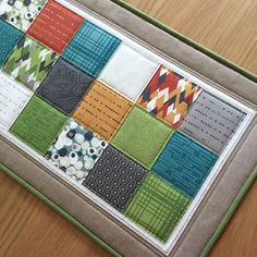 Patchwork Table Runner, Quilted Table Runners, Green Modern Table Topper, Quilted Fabric Table Mat, Rustic Table Runner, Sideboard Runner by SewnByVicki on Etsy https://www.etsy.com/uk/listing/600394745/patchwork-table-runner-quilted-table