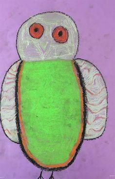 Oil Pastel Owls - Artsonia Lesson Plan