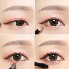 Under eye make up Korean Makeup Tips, Korean Makeup Look, Asian Eye Makeup, Ulzzang Makeup, Makeup Tumblr, Japanese Makeup, Asian Eyes, Tips Belleza, Everyday Makeup