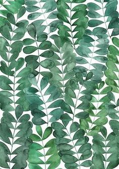 Robinia Leaves by Natalie Ryan for Minted.