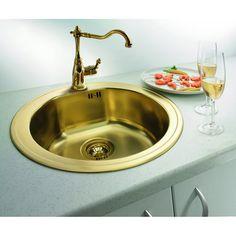 CHIUVETA DE BUCATARIE ALVEUS MONARCH COLLECTION LINE 30 FORM TEH GOLD ,INCASTRABILA ,INOX,SIFON INCLUS - Iak Sink, Gold, Home Decor, Sink Tops, Vessel Sink, Decoration Home, Room Decor, Vanity Basin, Sinks