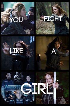 Tris, Hermione, Clary, Annabeth, Petra, Katniss