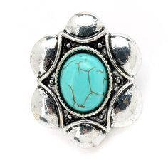 Amazon.com: Tagoo Womens Vintage Retro Oval Turquoise Silver Plated Stud…