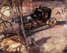 Giovanni Boldini  Il vetturino, c. 1905 olio su tavola, 27.5 x 35 cm. Collezione privata
