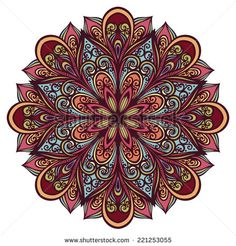 Beautiful Deco Mandala (Vector), Patterned design