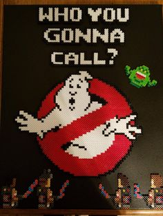 Ghostbusters perler beads by bhenady