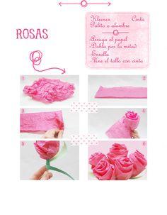Paper Tissue Roses