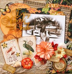 Tropical Travelogue Layout by Maggi Harding. What beautiful flowers and colors #graphic45 #layouts