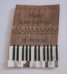 Piano Keys Wall Art - JUNKMARKET Style