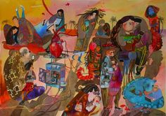 patternprints journal it: MAGICHE TEXTURES DEL SOTTOBOSCO NEI BELLISSIMI DISEGNI E ACQUARELLI DI MARTA ZURAVSKAJA Cobra Art, Naive, Primitive, Illustrations, Children, Painting, Young Children, Boys, Illustration