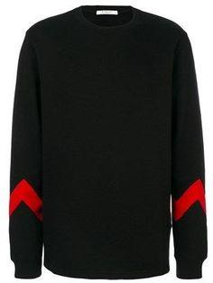 Givenchy Men's Black Cotton Sweater.