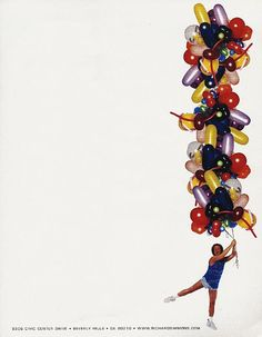 Richard Simmons with balloons, in case you are heading towards that R. Simmons wedding theme, LOL!: