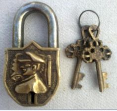 Great Ship Captain Face Carved Nautical Maritime Brass Lock Padlock