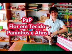 Passo a Passo - Flor em Tecido - Paninhos e Afins - YouTube