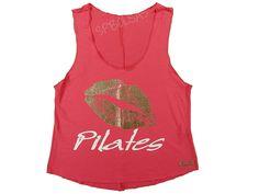 Regatas Femininas | Regata Cavada Curta Beijo Pilates Coral  Acesse: http://www.spbolsas.com.br/atacado/ #Regatas #Femininas #Atacado