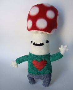 Dietfried of the Mushroom People by @OopisNein on Etsy #sfetsyteam