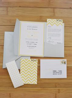 sunny modern invites by http://www.etsy.com/shop/scratchpaperdesigns  Photography By / http://gabeaceves.com