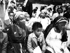 Rita Marley and children at Bob funeral 1981