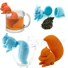 Squirrel Tea Infuser Loose Leaf Strainer Herbal Spice Silicone Filter Diffuser