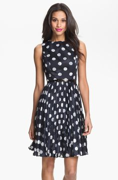 Spotted fit  amp  flare dress Polka Dot Party Dresses e61827df10e