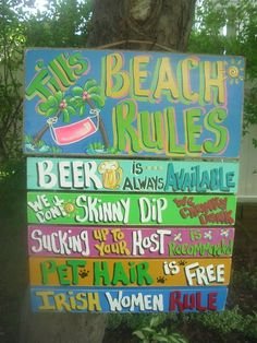 Tropical Welcome Pool Patio House Beach Plaque by FRANSCOUNTRYNY