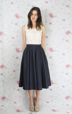 Simple and classy. The skirt's long enough that I could still play cello in it!