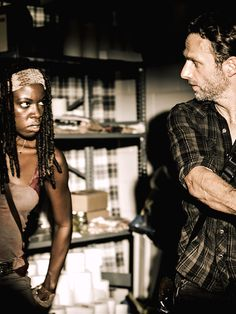 TWD - Michonne and Rick Grimes