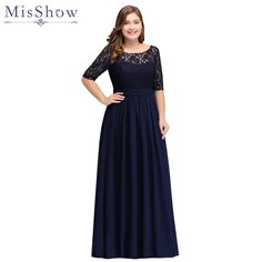 Cheap party evening dresses 2018 Mother of the Bride dresses Chiffon Lace  Plus size Long Evening gown Backless dress with Bow. affari del giorno 3eadfc020fc