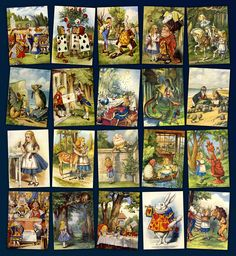 Retro Images | Alice in Wonderland 20 full colour postcards by John Tenniel | Online Store Powered by Storenvy